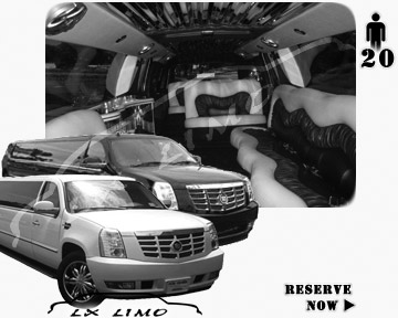 Cadillac Escalade 20 passenger SUV Limousine for rental in Tucson AZ