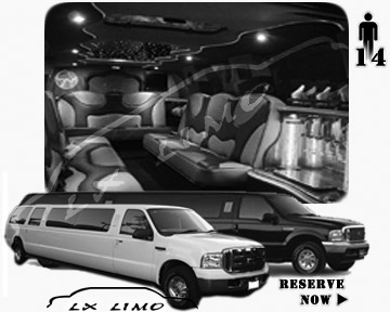 Lincoln Excursion SUV Limo for hire in Tucson AZ